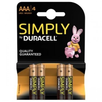 PILAS DURACELL SIMPLY AA (LR06) BLISTER 4UDS