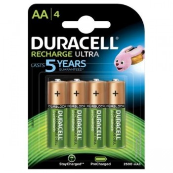PILAS DURACELL RECARGABLES AA (LR06) 1300 MAH BLISTER 4 UDS