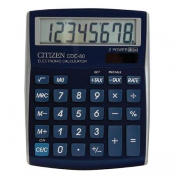 CALCULADORA SOBREMESA 8 DIG. CDC-80 AZUL METAL CITIZEN