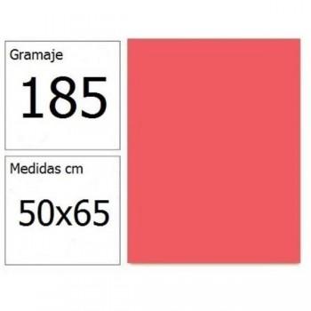 CARTULINA IRIS 50X65 185G CORAL 25H.