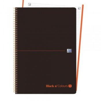 CUADERNO MICROPERFORADO EBOOK 1 MICROP A4+ 80H C/5 T.PLASTICO NG BLACK'N COLORS NARANJA OXFORD