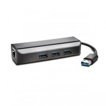 ADAPTADOR ETHERNET CON HUB USB 3.0 UA3000E KENSINGTON