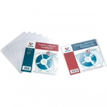 FUNDA CD's/DVD's 1/8 SIN TAL. PP 110 MIC NO ADHESIVAS (10 U.) GRAFOPLAS