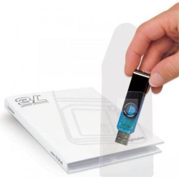 BOLSILLO ADHESIVO TARJETAS USB 52,5X90 BOLSA 10 UDS 3L TARIFOLD