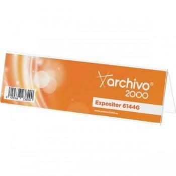 PORTANOMBRES SOBREMESA 1 CARA PLASTICO 210x62MM ARCHIVO 2000
