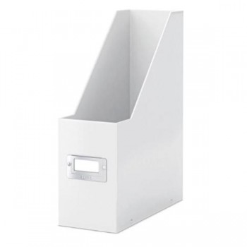 REVISTERO CARTON PLASTIFICADO BLANCO BOX SNAP & STORE LEITZ