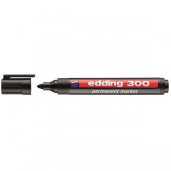 ROTULADOR PERMANENTE EDDING 300 NEGRO PTA.CONICA 1,5-3MM
