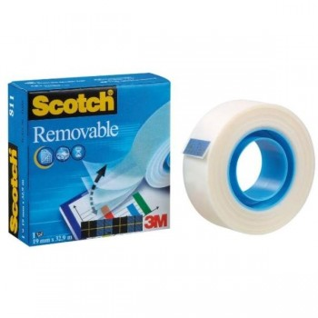 CINTA ADHESIVA INVISIBLE REPOSICIONABLE 33Mx19MM MAGIC 811 SCOTCH   (70016072848)