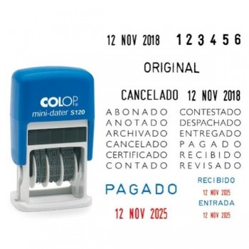"\""FECHADOR S-160\""\""PAGADO\""\"" 4 mm L1 COLOP\"""