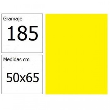 CARTULINA IRIS 50X65 185G AM.LIMON 25H.