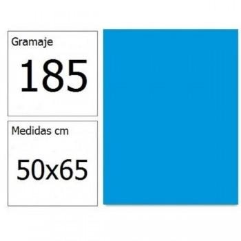 CARTULINA IRIS 50X65 185G AZ.MALDIVAS 25H.
