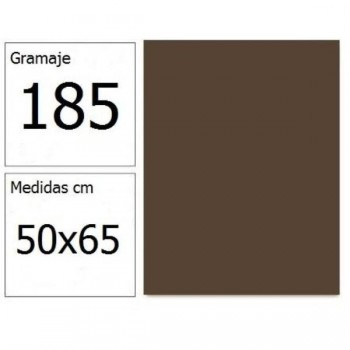 CARTULINA IRIS 50X65 185G CHOCOLATE 25H.
