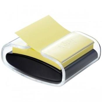 DISPENSADOR NEGRO PRO + BLOC ZNOTES POST-IT  SUPER STICKY AMARILLO (HK100010188)