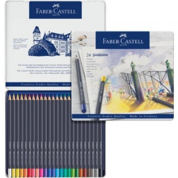 ESTUCHE DE METAL CON 24 LÁPICES GOLDFABER COLOR