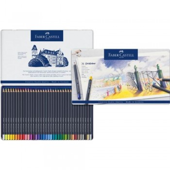 ESTUCHE DE METAL CON 36 LÁPICES GOLDFABER COLOR