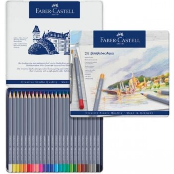 ESTUCHE DE METAL CON 24 LÁPICES GOLDFABER AQUARELABLES