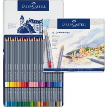 ESTUCHE DE METAL CON 48 LÁPICES GOLDFABER AQUARELABLES