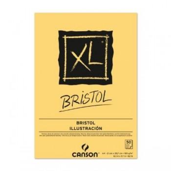 BLOC DIBUJO ENCOLADO A4 50H CANSON XL BRISTOL EXTRALISO 180G