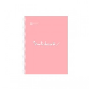 CUADERNO MICROP A4 120H 90G C/5 PP NOTEBOOK 5 EMOTIONS ROSA MIQUELRIUS