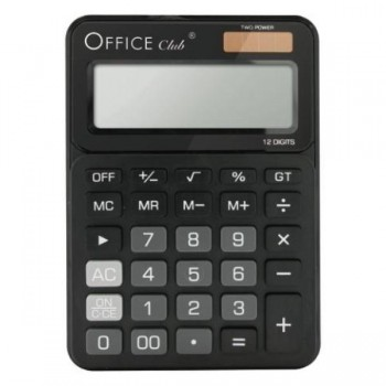 CALCULADORA CD-2720-12 NEGRO OFFICE CLUB  POESSA
